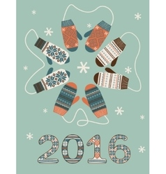 Happy new year 2016 decoration vector