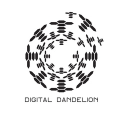 concept digital dandelion logo vector image