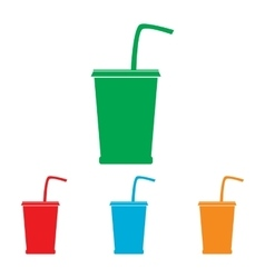 Drink sign colorfull set vector