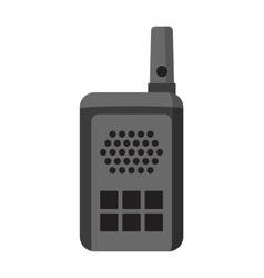 Portable radio set transceiver wave mobile vector image