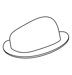 Black line hat vector