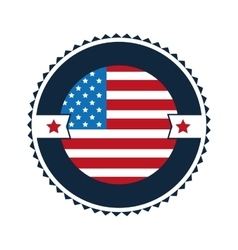 United states badge icon vector
