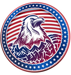 american bald eagle usa natioal symbol fourth vector image vector image