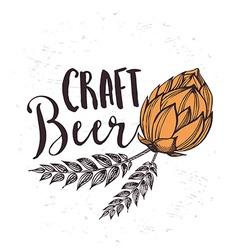 Beer restaurant cafe menu template design vector image vector image