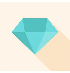 Big blue diamond vector image