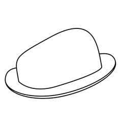Black line hat vector