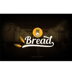 Bread shop logo vector