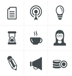 Business Icons Set Design vector image vector image