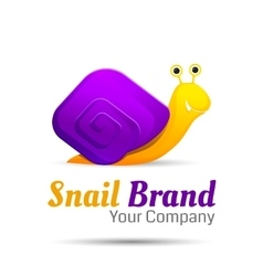 Colored stylized snail logo icon style vector