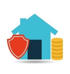 Concept insurance house money security design vector