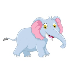 cute elephant cartoon for you design vector image vector image