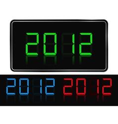 digital 2012 vector image vector image