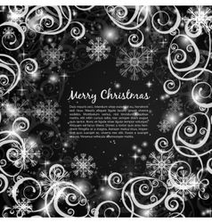 Elegant christmas black and white background vector image vector image