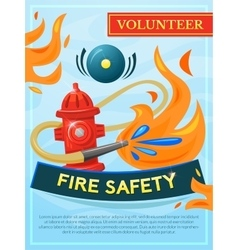 Fire safety poster vector