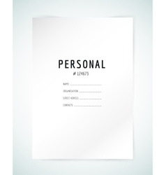 Form blank template Business folder paper and vector image