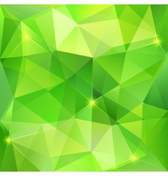 Green abstract crystal background vector image vector image
