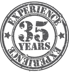 Grunge 35 years of experience rubber stamp vector image vector image