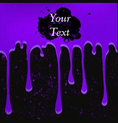 grunge violet color drops vector image vector image