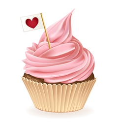 Heart Cupcake vector image