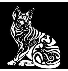 Hiqh quality egyptian cat for coloring vector image vector image