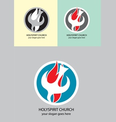 Holyspirit church vector