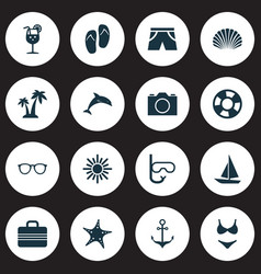 Hot icons set collection of mammal baggage vector