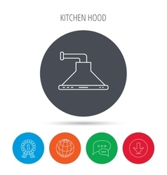 Kitchen hood icon Kitchenware equipment sign vector image
