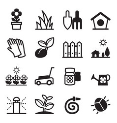 Lawn icons vector