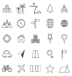 Location line icons on white background vector image vector image