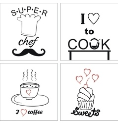 Logo on the theme of cooking and food with vector