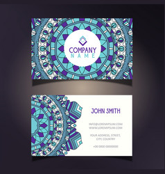 mandala business card vector image