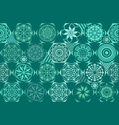mint blue drops on turquoise and white stripes vector image vector image
