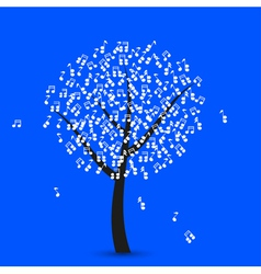 Musical Note Tree vector image