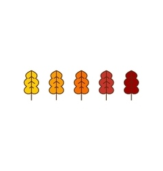 oak autumn leaves icons vector image vector image