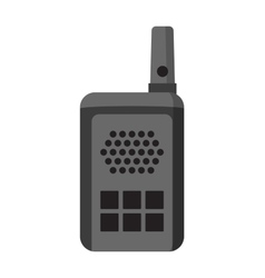 Portable radio set transceiver wave mobile vector image