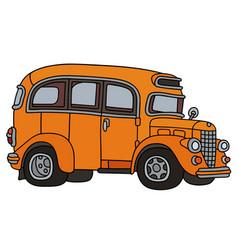 Retro orange bus vector