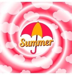 Sale swirl summer background vector