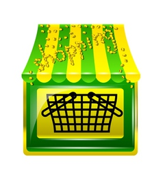 shopping store icon vector image vector image