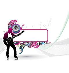 Silhouette music men play a guitar vector
