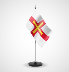 Table flag of guernsey vector
