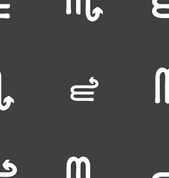 Scorpio sign Seamless pattern on a gray background vector image