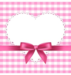 Pink frame with heart vector