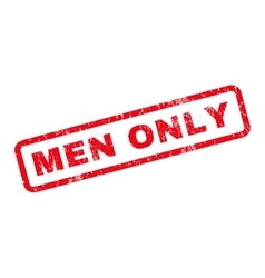 Men only rubber stamp vector