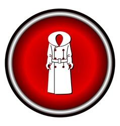 Women coat icon on white background vector