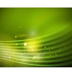 Transparent wave lines on blur silk background vector