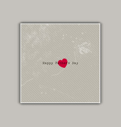 Vintage fathers day card vector
