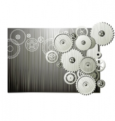 Mechanical wheels vector
