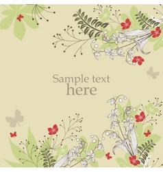 Floral frame with spring flowers vector