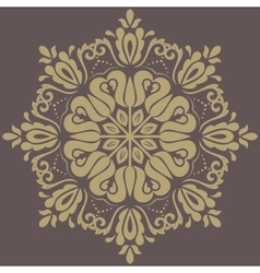 Damask orient golden pattern vector