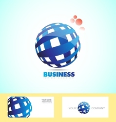 Corporate business sphere logo 3d vector